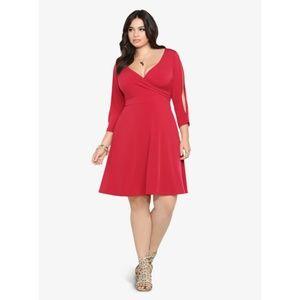 Torrid Cold Shoulder Red Dress size 1x